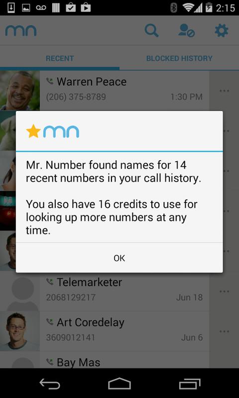 mr number app download