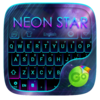 Neon Star Emoji Keyboard Theme Icon