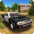 Police Car Driving Offroad Icon