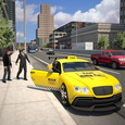 Modern Taxi Duty Driving 3D Icon