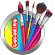 Kids Coloring Cartoons New Icon