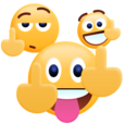 Middle Finger Emoji Sticker Icon