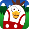 Flying Chicken Skydive Bird Icon