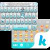 Blue Silver Emoji KikaKeyboard Icon
