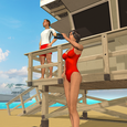Beach Lifeguard Rescue Icon