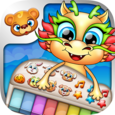 123 Kids Fun DRAGON PIANO Free Icon