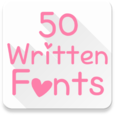 Fonts for FlipFont 50 Written Icon