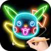 Draw Glow Cartoon Icon