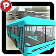 Airport Bus Parking 3D Icon