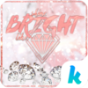 White Diamonds Kika Keyboard Icon