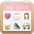Women's Stamp Calendar/Diary Icon