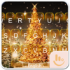 Golden Christmas Tree Keyboard Icon