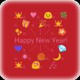 Happy New Year Emoji Art Icon