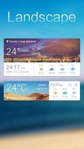 Landscape Weather Widget Theme