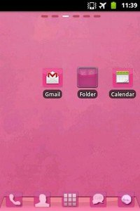 GO Launcher EX Theme Pink