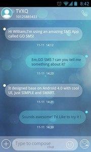 GO SMS Pro Briefness Theme EX