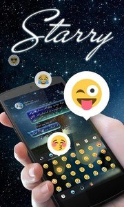 Starry GO Keyboard Theme Emoji