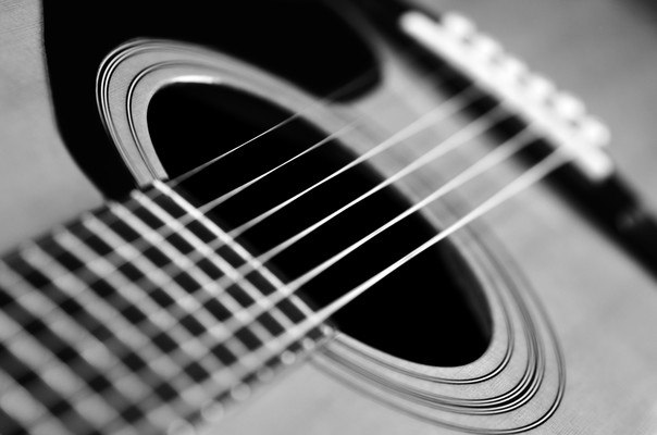 Classical Guitar Black And White
