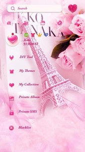 FREE-GO SMS EIFFEL TOWER THEME