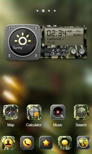 Camo GO Launcher Theme