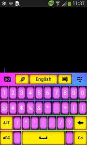 Neon Keyboard Theme