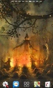 halloween camp fire LWP