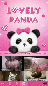 Lovely Panda Kika Emoji Theme