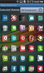 3D Icons GO LauncherEX Theme