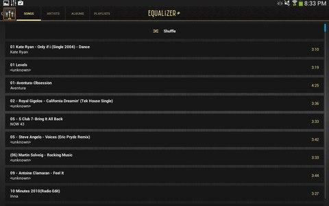 Equalizer + mp3 Player Volume
