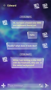 (FREE) GO SMS GALAXY THEME