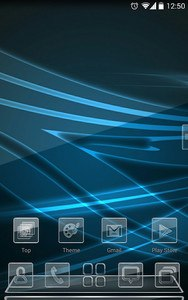 Next launcher theme BlackGlass