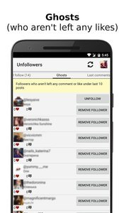 Unfollowers for Instagram