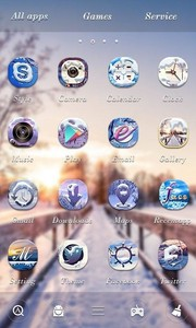 Winter GO Launcher Theme