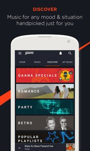 Gaana: Bollywood Music & Radio