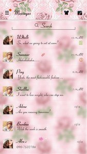 (FREE) GO SMS PRO ROSE THEME