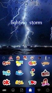 Lighting Storm Kika Keyboard
