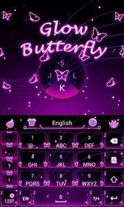 Glow Butterfly Keyboard Theme