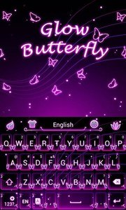 Glow Butterfly Keyboard Theme