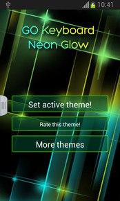 GO Keyboard Neon Glow