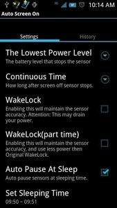 Auto Screen On