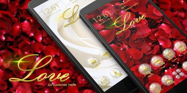 Rose Love GO Launcher Theme