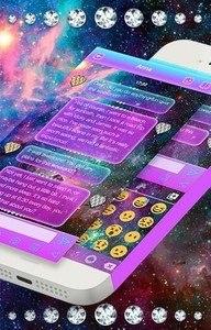 Galaxy Glitter Keyboard Theme