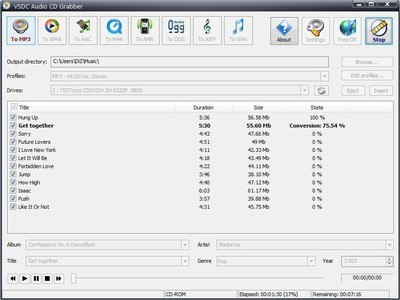 VSDC Free Audio CD Grabber