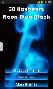 GO Keyboard Neon Blue Black