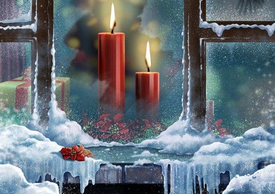 Christmas Candles Art