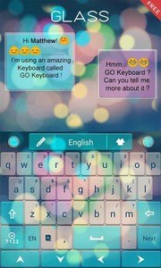 Free Z Glass GO Keyboard Theme