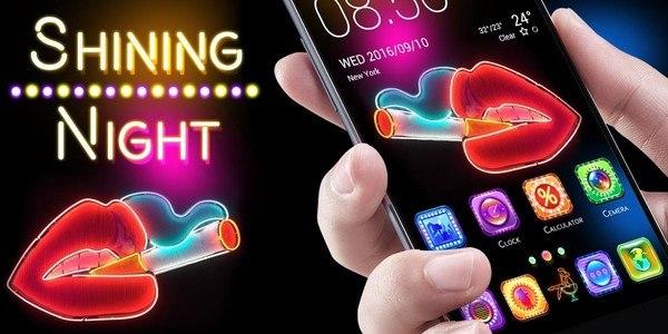 Shining NightGO Launcher Theme