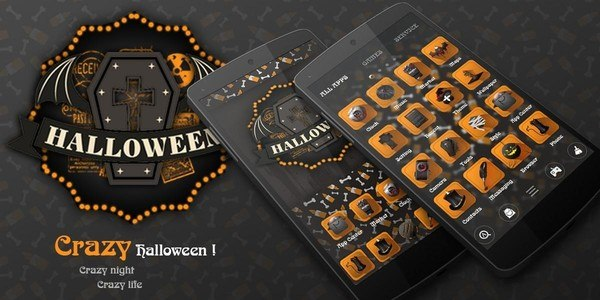Crazy Halloween Launcher Theme