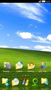 Blue Sky and Green Grass Theme