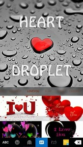 Heart Droplet Kika Keyboard